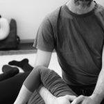 Schulterbehandlung in Seitenposition